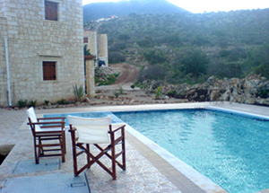 the holiday villa's swimming pool